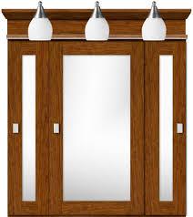 strasser tri view medicine cabinet with miter style doors