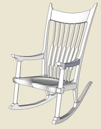 sam maloof rocking chair class maloof rocker roughing into sketchup finewoodworking