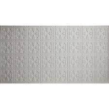 White Tin Ceiling Tiles Home Depot by Global Specialty Products Faux 2 Ft X 4 Ft Glue Up Tin Style