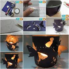 How To Make Homemade Romantic Butterfly Candle Holders Step By DIY Tutorial Instructions Thumb