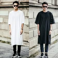 Men Classy Oversized Korean Fashion Vintage Stylish Casual Tee Shirt Modern Tops
