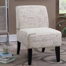 French Script Chair Cushions by Sand Wing Back Accent Chair Living Room Furniture Living Rooms