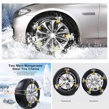 100 Cheap Truck Mud Tires US Stocks Deluxe AntiSkid Snow Tire Iron Chains Car Wheel