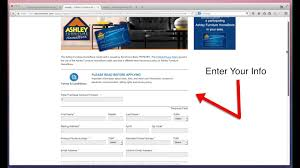 Ashley Furniture HomeStore Payment through Synchrony Bank