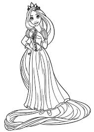 Coloring Page Disney Princess Tangled Printable Pages About Rapunzel Colouring