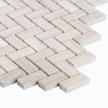 Sadie Small Mosaic Wall And Floor Tile Wooden White Marble