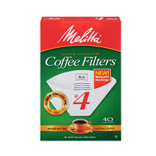 Melitta White Coffee Filters 4