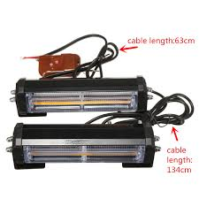 100 Strobe Light For Trucks Pair Amber COB LED Car Off Road Vehicle ATVs Truck Emergency Warning