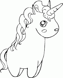 Cute Unicorn Doll Coloring Pages