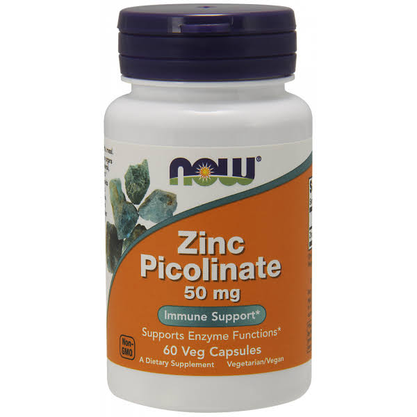 Now Foods Zinc Picolinate - 50mg, 60 Capsules