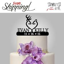 Personalized Rustic Cake Topper