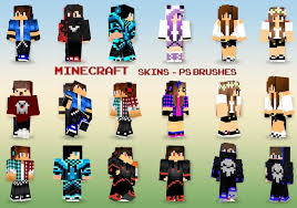 20 Minecraft Skins PS Brushes abr Vol 12 Free shop Brushes