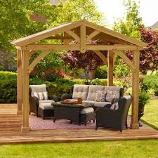 Sams Club Patio Set With Fire Pit by Gazebos Awnings Canopies Outdoor Enclosures Sam U0027s Club