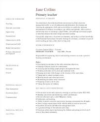First Year Teacher Resume Samples Examples Free Word Documents Download Primary