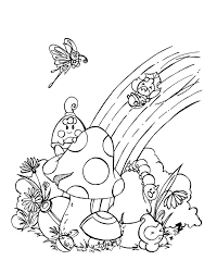 Download Coloring Pages Rainbow Page Free Printable For Kids