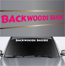 Backwoods Barbie Country Girl Custom Windshield Banner | Top Choice ... Custom Window Decal For Webpass Vehicle Wraps Decals Vinyl Glass Lettering Signs Nyc Tutorial Create Custom Window Decals Your Business Elk Shape Sticker Buildacrosscom High Quality Stickers Full Color Tpee Car Large Big Etsy Your Business Gate City Graphics How To Remove Vinyl Signs Decals Or Designs From A Car Window Back Trucks Truck New For Ideas At Home Depot Autumn To Deter
