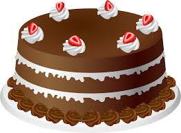 Image detail for Clip Art of a Chocolate Cake with Strawberries