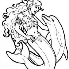 Coloring Pages Of Mermaids And Dolphins 16 Httpbulkcolormermaid