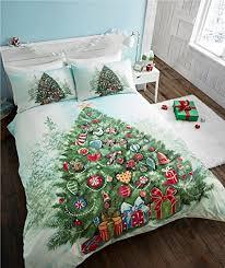 Christmas Tree Duvet Quilt Cover Bedding Set Green