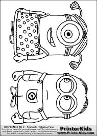 Colouring Pages Of Minions Despicable Me Girl Minion Coloring Klejonka