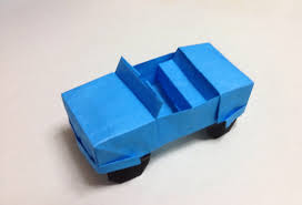 how to make a origami jeep car youtube