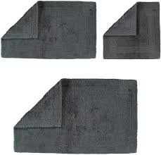 cawö home badteppich luxus badteppich 1000 anthrazit 774 60x60 cm