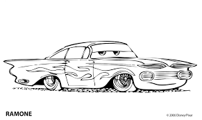 Old Gang Rapper Car Colouring Pages