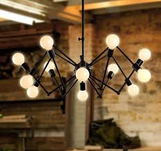 Modern Chandelier Cahaya 12 Kepala Lampu Gantung Untuk Ruang Tamu Spider Desain Vintage Disesuaikan DIY Tanpa