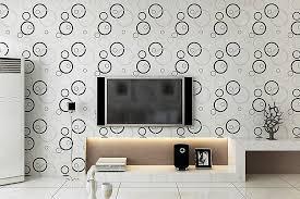 moderne papel de parede rolle kreis tapete für wohnzimmer wand schwarz weiß gestreiften tapeten zeitgenössische tv hintergrund wand