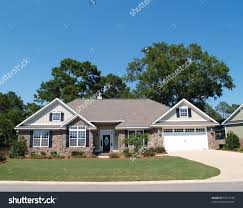 Large One Story Homes by One Story Stock Photos Images Pictures Residential