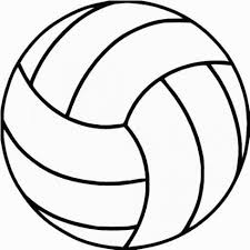 Volleyball Outline Coloring Pages Strikingly Design 19 On