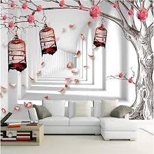 nidezuiai wandbild anpassen 4d tapeten rosa blume vogel