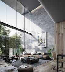 modernes wohnzimmer interieur exklusiv mit dekorationsideen