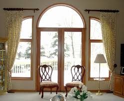 Curved Curtain Rod For Arched Window Treatments by Interior Fitted White Sheer Curtain Shades With Plus Arched