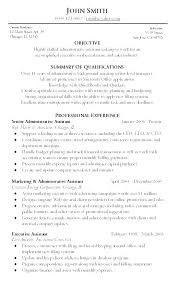 Sample Objective For Executive Assistant Resume Legal Administrative Objectives General