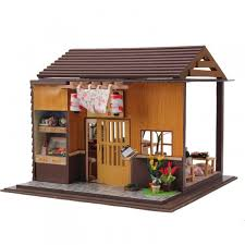 Amazoncom ROBOTIME DIY Dollhouse Wooden Miniature Furniture Kit