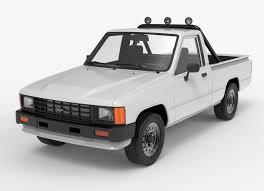 100 Toyota Truck Models Hilux 19831988 Pickup 1986 3D Model CGTrader