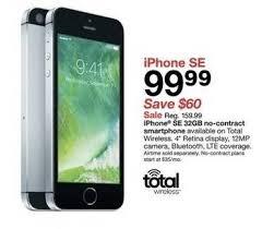 Tar Black Friday 32GB Apple iPhone SE No Contract Smartphone