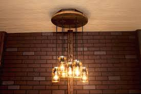 Awesome Mason Jar Light Fixture Or Chandelier I 61 Kitchen