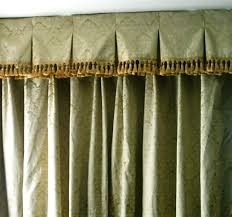 box pleat valance with tassel fringe and double pinch pleat