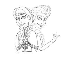 Full Image For Disney Princess Coloring Pages Frozen Elsa Archives Page Anna