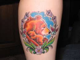 Mamma Bear Cub Tattoo