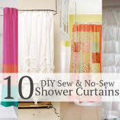 10 DIY shower curtains sew and no sew Andrea s Notebook