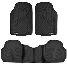 Universal Heavy Duty Rubber Floor Mats For Car SUV Truck Van, 100 ... Universal Fit 3piece Full Set Ridged Heavy Duty Rubber Floor Mat Armor All Black 19 In X 29 Car 4piece John Deere Vinyl 31 18 Mat0326r01 Bestfh Truck Tan Seat Covers With Combo Alterations Mats Red Metallic Design On Vehicle Beautiful For Weather Toughpro Infiniti G37 Whosale Custom For Subaru Forester Legacy 19752005 Bmw 3series Husky Liners Heavyduty