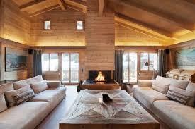 wohnzimmer gestaltung chalet stil gemütlich kaminofen