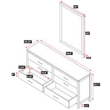6 Drawer Dresser With Mirror by Niko 6 Drawer Dresser Epoch Design