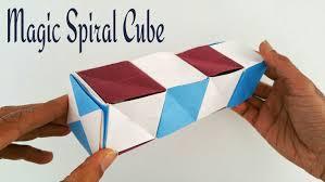 magic spiral cube diy modular origami tutorial by paper folds