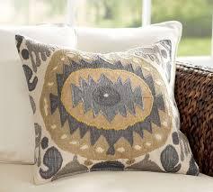 nadia ikat pillow cover pottery barn