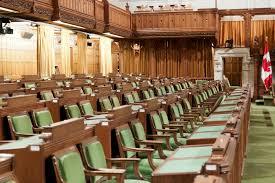 chambre des communes le parlement canadien la chambre des communes image stock