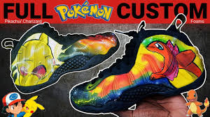 100 Space Jam Foams Full Custom Pokemon Galaxy Foamposite One Painted Shoes By Sierato